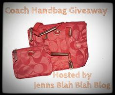 Don't miss your chance to enter to #win this fabulous Coach Handbag #giveaway via JennsBlahBlahBlog #sweepstakes coach bags, coach handbags, nylon, outlets, outlet onlin, fashion coach, coaches, handbag giveaway, coach outlet