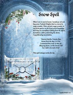 Magick Spells:  Snow #Spell.