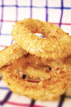 Low Fat Onion Rings #vegan