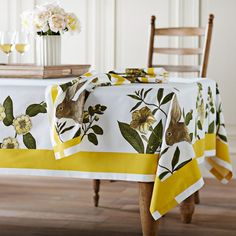 Lovely tablecloth from Williams-Sonoma.