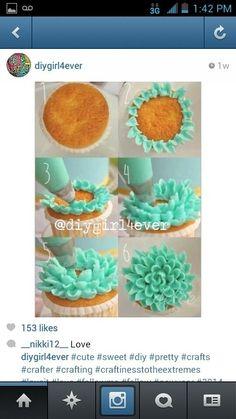 floweri cupcak, food decor, cutest cupcak, succul cupcak
