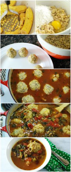 Chicken Dumpling Soup {made w/ plantains!}