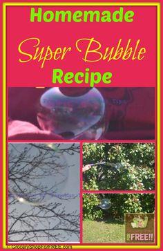 Homemade Super Bubble Recipe!