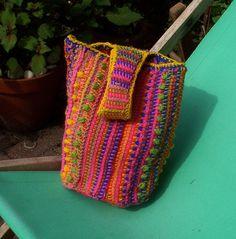tunisian bag, crochet bags, pattern, colors, baileyella, tunisian crochet, blankets, crochet purses, fab bag