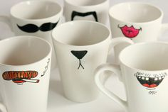 craft, hot chocolate, marker, gift ideas, chocolate dipped, diy gifts, funny faces, mugs, christmas gifts