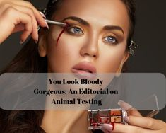Beauty editorial that lifts the lid on the dark truth behind animal testing for cosmetics