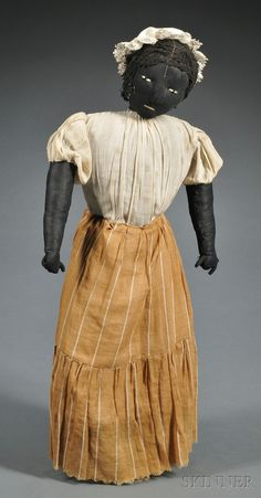 late 19th. century black doll . . . beautiful