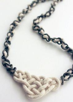 DIY: celtic knot necklace