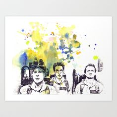 Ghostbusters Peter Venkman, Egon Spengler, Raymond Stantz Art Print by idillard - $18.00