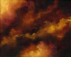 FIRE STORM-Abstract Skyscape, Landscape Oil Painting by Marina Petro via Etsy