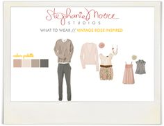 Spring Family Photo Outfit Ideas - Vintage Rose