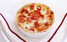 Mini quiche de tomates cherry asados con crema  http://www.thespanishfood.es/2012/03/mini-quiches-de-tomates-cherry.html