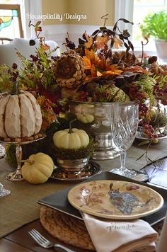 Thanksgiving Tablescape table settings, holiday, tablescap 2013, housepit design, centerpiec, beauti thanksgiv, fallthanksgiv tablescap, fall dinner, thanksgiving table