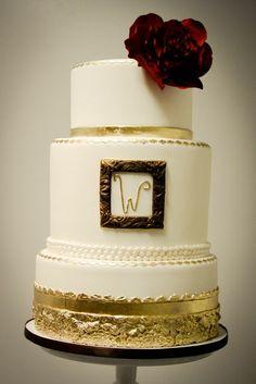 the golden factor #wedding #cake