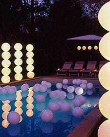 Pool party lighting