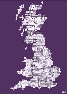 The British Food Map