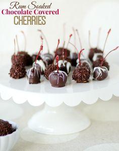 Rum Soaked Chocolate Covered Cherries!!