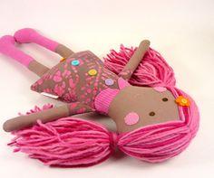 Handmade Rag Doll for Girls  Ethnic Rag Doll  by CleoAndPoppy, $50.00
