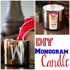 DIY Monogram Candle