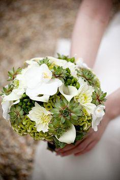 lovely succulent bouquet.