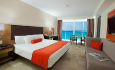 The 453 rooms at Krystal Cancun were renovated in December 2011 and and each one has a view of either the Caribbean Sea or Cancun Lagoon. (From: Photos: Best Beachfront All-Inclusive Resorts that Fit Your Budget)