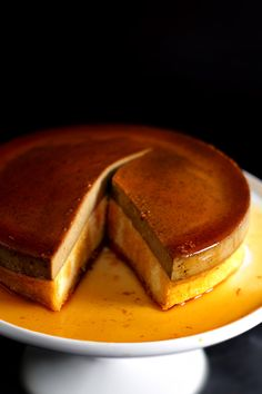 Caramel Espresso Flan/Butter Roux Cake by ladyandpups: The true genius of this particular flan-cake lies not only on the magic of the two self-separating layers of flan and sponge cake, but also on the miraculous outcome of a butter-roux cake batter.  #Cake #Flan #Caramel #Espresso