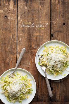 Shaved Brussels Sprout Salad with Apples, Pecorino Cheese, and Honey Cider Dressing