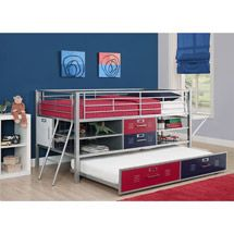 Walmart: Trundle for Junior Shelf and Storage Loft Bed, Red/Blue