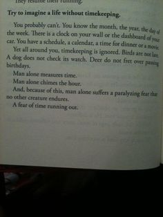 imagine a life without timekeeping...