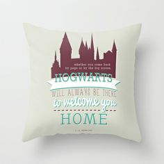 J.K.Rowling quote (Harry Potter) Throw Pillow