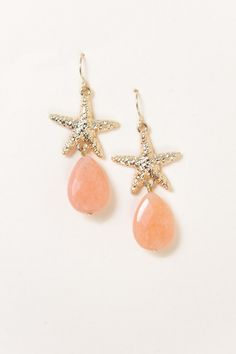 Under the Sea Earrings-Peach