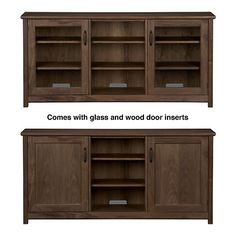 $1104.15 media consule - with solid doors