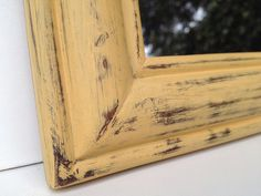 Rustic Shabby Chic Mirror In Annie Sloan Arles Chalk Paint by shabbyshores,