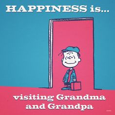 Happiness is visiting grandma's and grandpa's house. :)