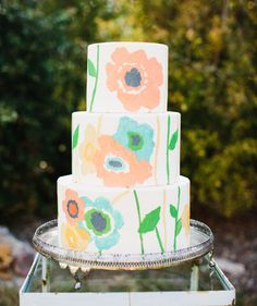 floral cake orange grove inspiration