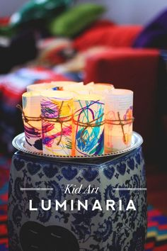 Love everything about this --> Kid Art Luminaria