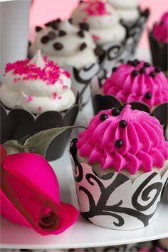 Gigi's Cupcakes. Indian Weddings Inspirations. Pink wedding cupcakes. Repinned by #indianweddingsmag #bakery indianweddingsmag.com