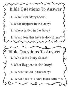 FREE Bible Study Printable for all ages!
