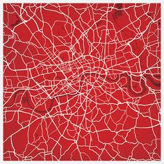 London Map Print, $35, now featured on Fab.