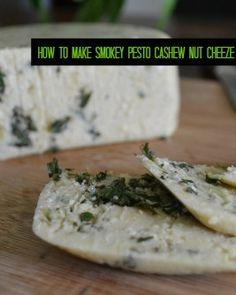 Smokey Pesto cashew Cheese #vegan #vegetarian #cheese #pesto #dairy #cashew #nut #non-dairy