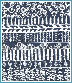 Gorgeous pattern by Jennifer Judd McGee of Swallowfield on Etsy.