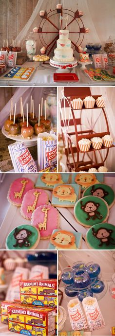 Vintage Circus Baby Shower Theme