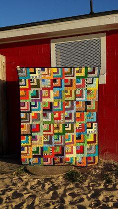 quarter log cabin quilt   Flickr - Photo Sharing!