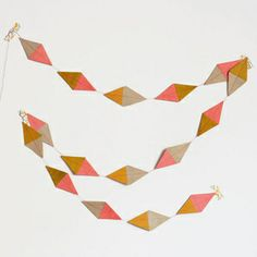 DECORATING > bunting & garlands > muskane kite garland - multicoloured gold and pink : My Little day
