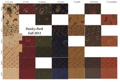 Paisley Park Fabric Collection by Kansas Troubles Quilters - Sept. 2014