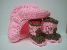 Cowboy Boots and Cowboy Hat Cowgirl baby shower Pink by Dremnstar