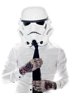 Tattooed office storm trooper :D. #tattoo #tattoos #ink