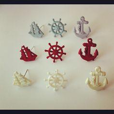 #earrings #anchor #helm #ship #sailboat #nautical #cute #pretty #jewellery #kukee - @lovekukee- #webstagram