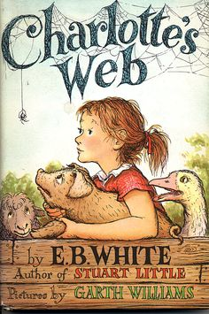Sixty years ago, on October 15, 1952, E.B. White's Charlotte's Web was published. It's gone on to become one of the most beloved children's books of all time. (Garth Williams' cover illustration)