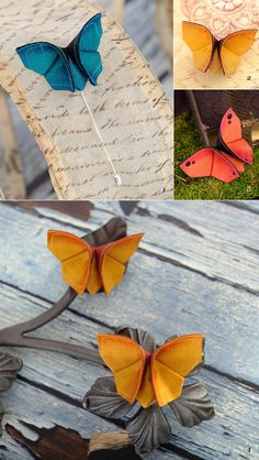 origami fabric butterfly
